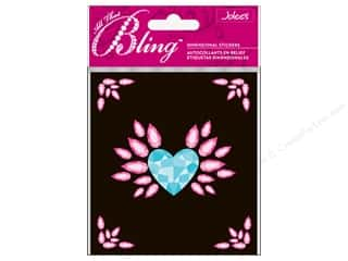 EK Jolee&#39;s 3D Sticker Bling Large Heart Wing