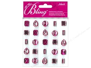 EK Jolee's 3D Sticker Bling Gems Pink Set