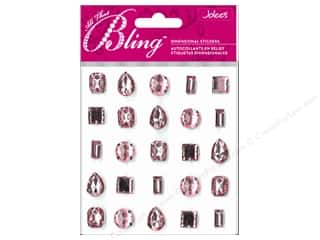 stickers  -3D -cardstock -fabric: EK Jolee's 3D Sticker Bling Gems Baby Pink Set