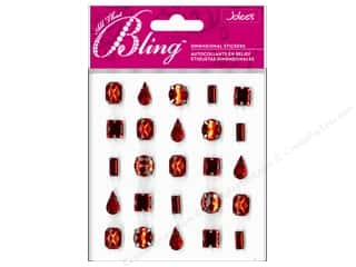 EK Jolee's 3D Sticker Bling Gems Red Set