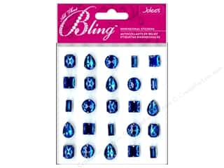 EK Jolee's 3D Sticker Bling Gems Blue Set