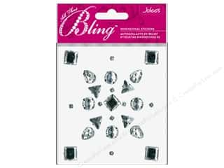 EK Jolee's 3D Sticker Bling Gems Multi Shape Clear