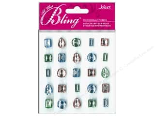 Clearance EK Jolee's 3D Sticker Bling: EK Jolee's 3D Sticker Bling Gems Pastel Set