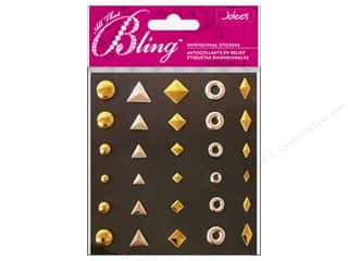 EK Success mm: Jolee's 3D Bling Stickers Studs Variety Gold & Silver