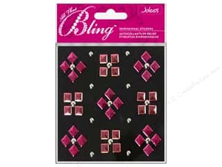 3D Stickers: EK Jolee's 3D Sticker Bling Studs Pyramid Pink