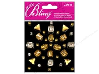 EK Jolee&#39;s 3D Sticker Bling Gems Shape Gold/Silver