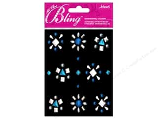 Clearance EK Jolee's 3D Sticker Bling: EK Jolee's 3D Sticker Bling Studs Blue and Silver