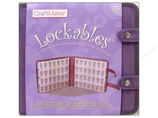 Craft Mates Organizer Containers: Craft Mates Lockables Case w/2XL 7 Compartment 8pc