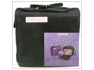 Quilting Craft & Hobbies: Craft Mates Lockables Case w/2XL 14 Compartment Black 6pc