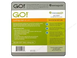 Quilting Cutting Mats: AccuQuilt Go! Cutting Mat 6 x 6 in.