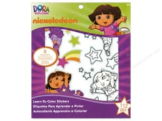 Nickelodeon Sticker Learn-To-Color Dora