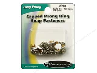 Snapsource Snap Capped Prong Ring Size 14 White
