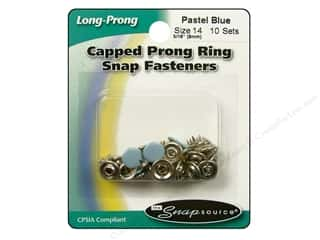 Snapsource Snap Capped Prong Ring Size 14 Pastel Blue