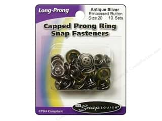 Snapsource Snap Capped Prong Ring Sz20 Ant Silver