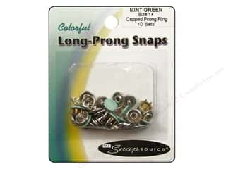 Snapsource Snap Capped Prong Ring Sz14 Mint Green
