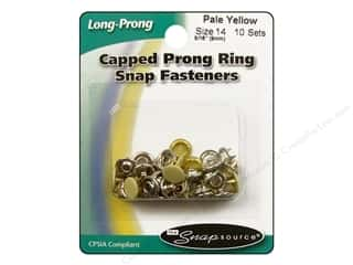 Snapsource Snap Capped Prong Ring Size 14 Pale Yellow