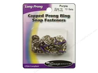 Snapsource Snap Capped Prong Ring Sz16 Purple