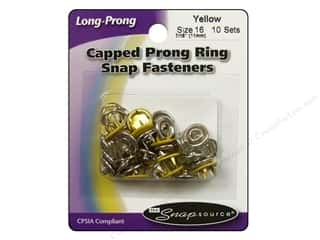Snapsource: Snapsource Snap Capped Prong Ring Size 16 Yellow