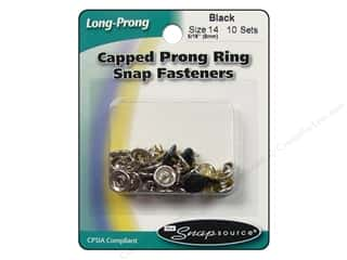 Snapsource Snap Capped Prong Ring Size 14 Black