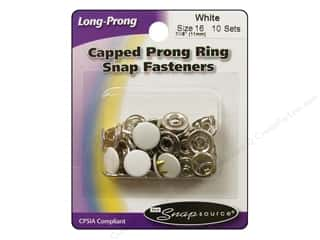 Snapsource Snap Capped Prong Ring Size 16 White