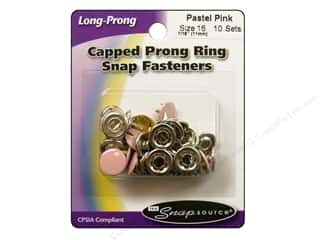 Snapsource Snap Capped Prong Ring Sz16 Pastel Pink