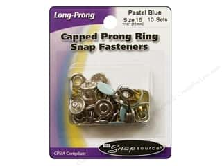 Snapsource Blue: Snapsource Snap Capped Prong Ring Size 16 Pastel Blue