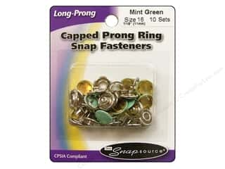 Snapsource Snap Capped Prong Ring Size 16 Mint Green