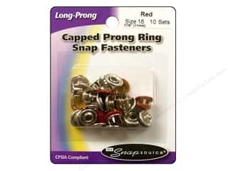 Snapsource: Snapsource Snap Capped Prong Ring Size 16 Flame Red
