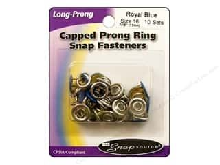 Better Homes : Snapsource Capped Prong Ring Snap Fasteners Size 16 Royal Blue
