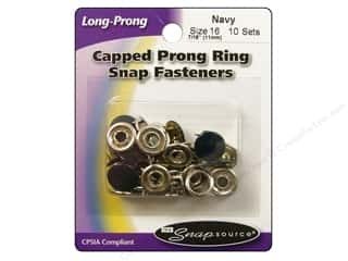 Snapsource Snap Capped Prong Ring Size 16 Navy