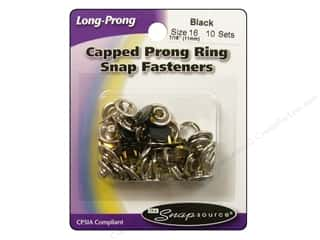 Snapsource Snap Capped Prong Ring Size 16 Black