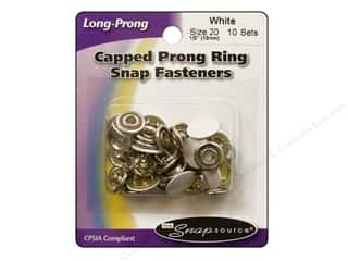 Snapsource Snap Capped Prong Ring Size 20 White