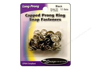Snapsource Snap Capped Prong Ring Size 20 Black