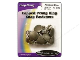 Snapsource Snap Capped Prong Ring Sz24 Ant Silver