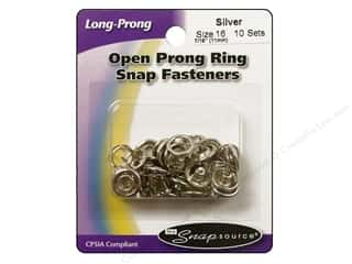 Snapsource Snap Open Prong Ring Size 16 Silver