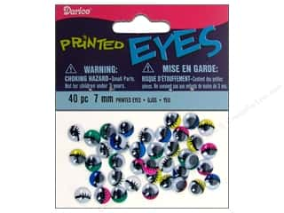 Darice Eyes Printed Moveable 7mm Assorted 40pc