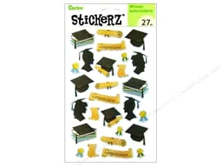 "Theme Stickers / Collection Stickers: Darice Sticker 5""x 8"" Glitter Congrats Grad"