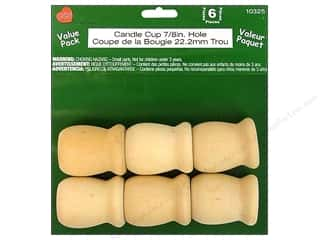 Lara's: Lara's Wood Candle Cup Value Pack 7/8 in. Hole 6 pc.