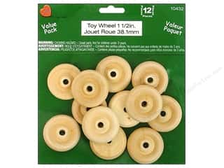 Lara's Wood Toy Wheel Value Pack 1 1/2 in. 12 pc.