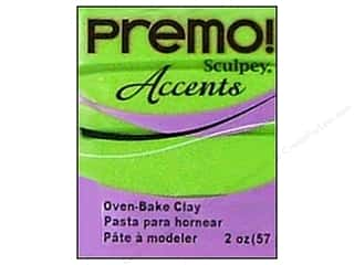 Premo Accents: Premo Polymer Clay 2oz Bright Green Pearl