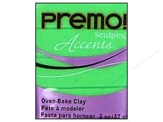Semi-Annual Stock Up Sale: Premo! Sculpey Polymer Clay 2 oz. Green Translucent
