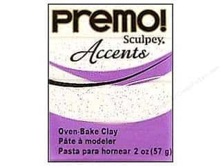 Kids Crafts Clay & Modeling: Premo! Sculpey Polymer Clay 2 oz. Frost White Glitter