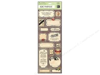 K&Co Sticker BW Flora & Fauna Labels And Words