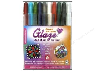 Sakura Memory Pens: Sakura Glaze Ink Pen Set 3D Glossy Basic 10pc