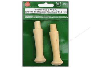 Wood $2 - $4: Lara's Wood Shaker Peg 2 7/16 in. 2 pc.