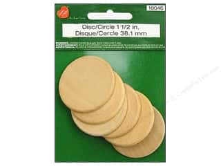 Wood Wood Shapes: Lara's Wood Circle 1 1/2 in. 6 pc.