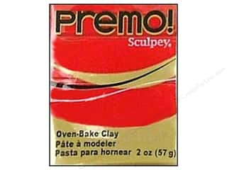 Sculpey Original Clay: Premo! Sculpey Polymer Clay 2 oz. Pomegranate