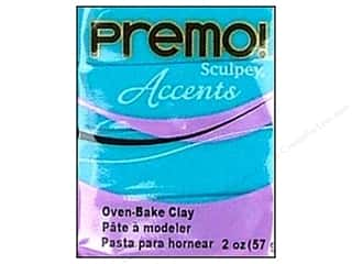 Sculpey Original Clay: Premo! Sculpey Polymer Clay 2 oz. Blue Translucent