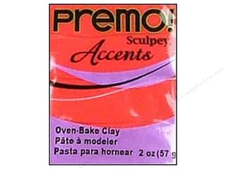 Sculpey Original Clay: Premo! Sculpey Polymer Clay 2 oz. Red Translucent