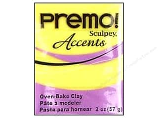 Sculpey Original Clay: Premo! Sculpey Polymer Clay 2 oz. Yellow Translucent